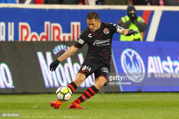 Tijuana defender Pablo Aguilar during the second half of the CONCACAF Champions League Quarterfinal match between the New York Red Bulls and Club...