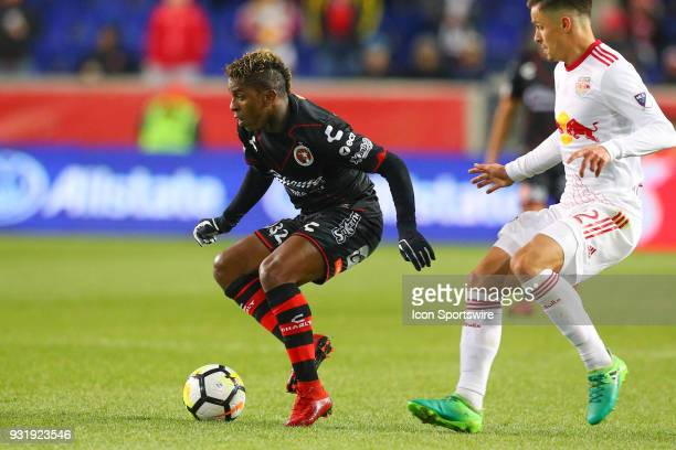 Tijuana forward Miller Bolanos during the second half of the CONCACAF Champions League Quarterfinal match between the New York Red Bulls and Club...