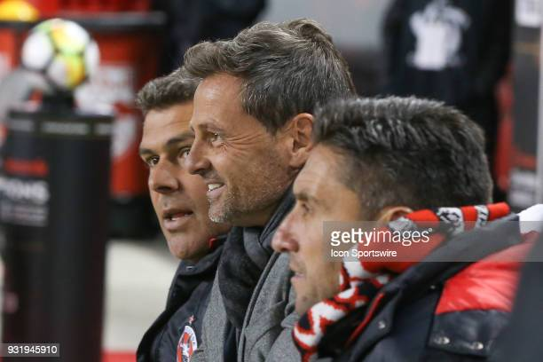 Tijuana Head Coach Digo Cocca prior to the CONCACAF Champions League Quarterfinal match between the New York Red Bulls and Club Tijuana on March 13...