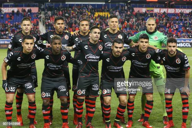 Tijuana Starting Eleven pose for a photo prior to the CONCACAF Champions League Quarterfinal match between the New York Red Bulls and Club Tijuana on...