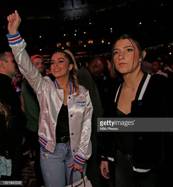 Tik Tok Stars Addison Rae Easterling and Charlie D'Amelio during the 69th NBA AllStar Game as part of 2020 NBA AllStar Weekend on February 16 2020 at...