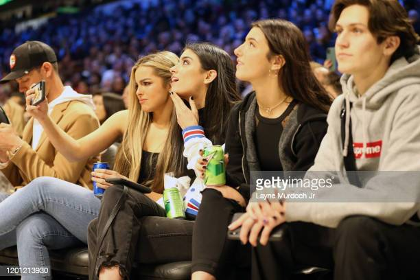 Tik Tok Stars Addison Rae Easterling and Dixie D'Amelio and pose for a selfie during NBA AllStar Saturday Night Presented by State Farm as part of...
