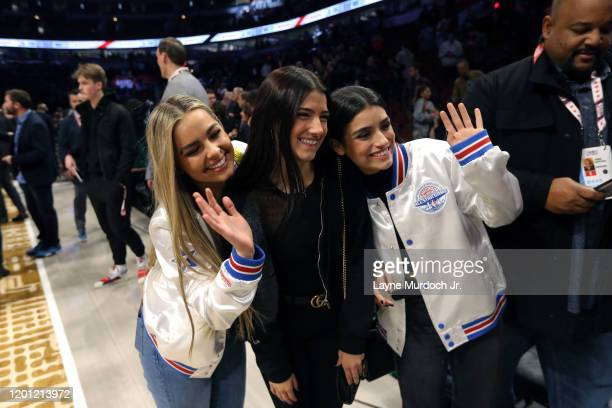 Tik Tok Stars Addison Rae Easterling Charli D'Amelio Dixie D'Amelio during NBA AllStar Saturday Night Presented by State Farm as part of 2020 NBA...