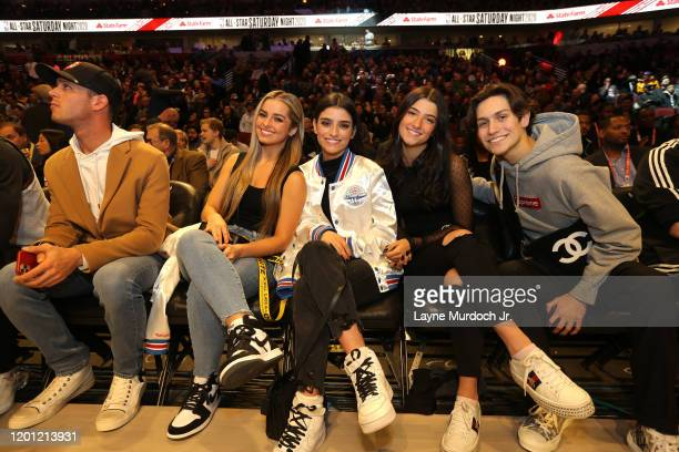 Tik Tok Stars Addison Rae Easterling Dixie D'Amelio Charli D'Amelio and Chase Hudson during NBA AllStar Saturday Night Presented by State Farm as...