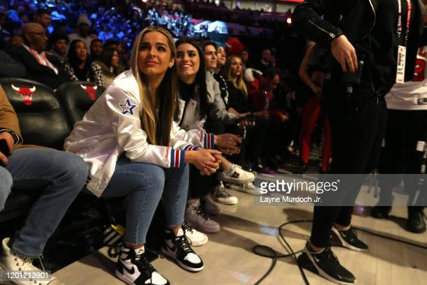 Tik Tok Stars Addison Rae Easterling looks on during NBA AllStar Saturday Night Presented by State Farm as part of 2020 NBA AllStar Weekend on...