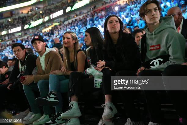 Tik Tok Stars Charli D'Amelio Addison Rae Easterling and Dixie D'Amelio during NBA AllStar Saturday Night Presented by State Farm as part of 2020 NBA...
