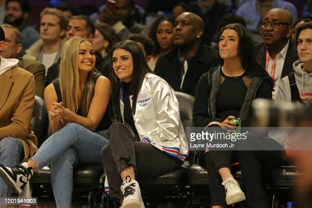 Tik Tok Stars Charli D'Amelio Addison Rae Easterling and Dixie D'Amelio talk during NBA AllStar Saturday Night Presented by State Farm as part of...