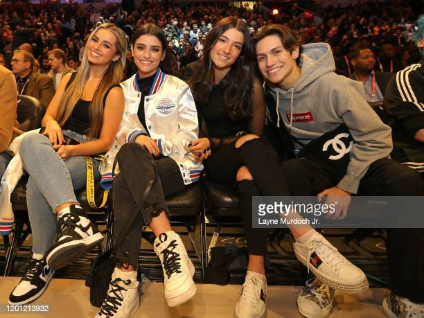 Tik Tok Stars Charli D'Amelio Addison Rae Easterling Dixie D'Amelio and Chase Hudson during NBA AllStar Saturday Night Presented by State Farm as...