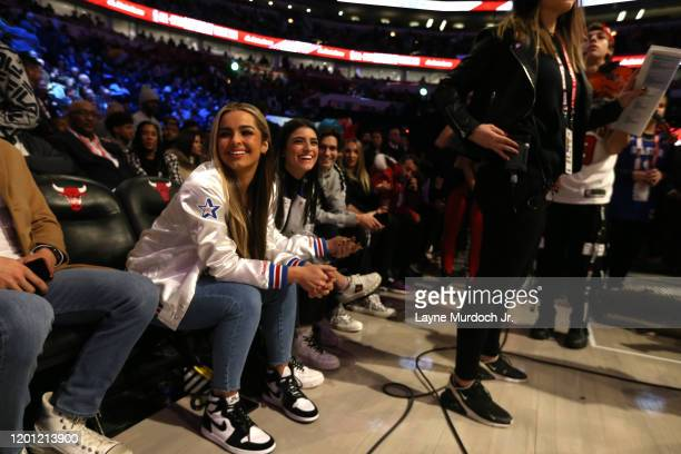 Tik Tok Stars Charli D'Amelio looks on during NBA AllStar Saturday Night Presented by State Farm as part of 2020 NBA AllStar Weekend on February 15...