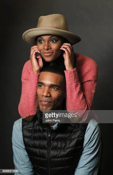 Tika Sumpter and Parker Sawyers from the film 'Southside With You' posed for a portrait during The Hollywood Reporter 2016 Sundance Studio At Rock...