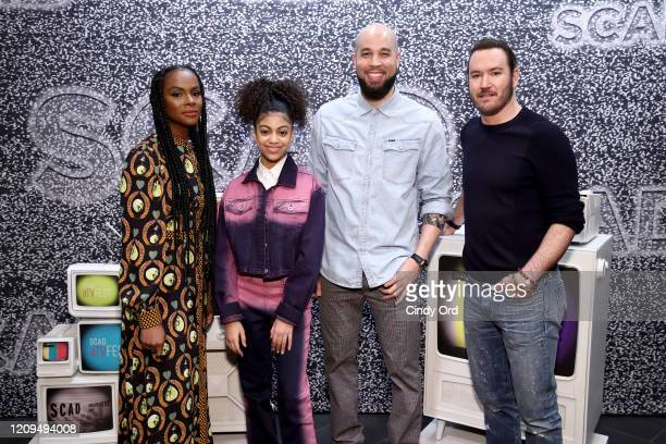 Tika Sumpter Arica Himmel Peter Saji and MarkPaul Gosselaar attend the SCAD aTVfest 2020 Mixedish Panel on February 29 2020 in Atlanta Georgia