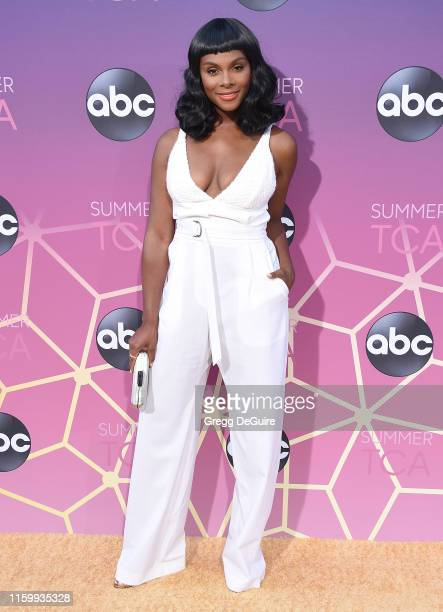 Tika Sumpter arrives at ABC's TCA Summer Press Tour Carpet Event on August 5 2019 in West Hollywood California