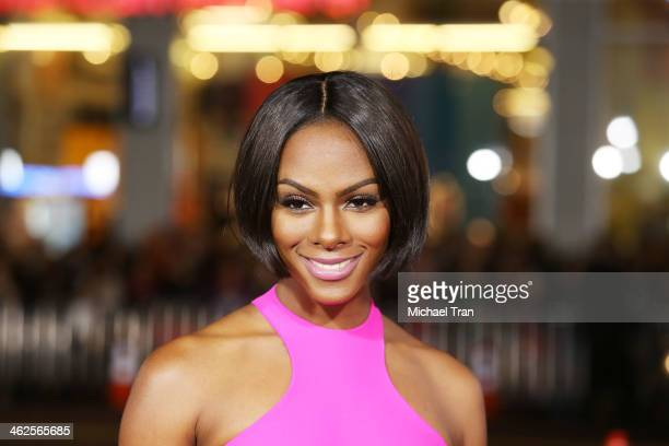 Tika Sumpter arrives at the Los Angeles premiere of Ride Along held at TCL Chinese Theatre on January 13 2014 in Hollywood California
