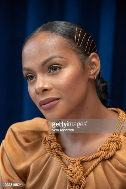 Tika Sumpter at the Nobody's Fool Press Conference at the Mandarin Oriental Hotel on October 28 2018 in New York City