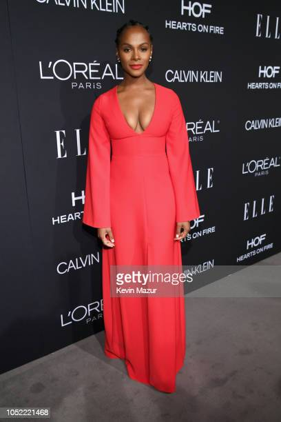 Tika Sumpter attends ELLE's 25th Annual Women In Hollywood Celebration presented by L'Oreal Paris Hearts On Fire and CALVIN KLEIN at Four Seasons...