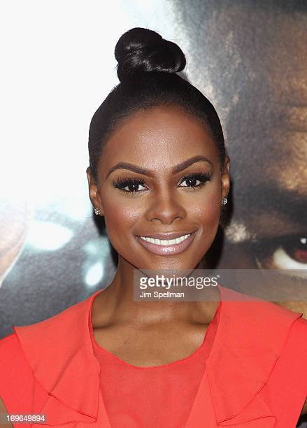 Tika Sumpter attends the 'After Earth' premiere at the Ziegfeld Theater on May 29 2013 in New York City
