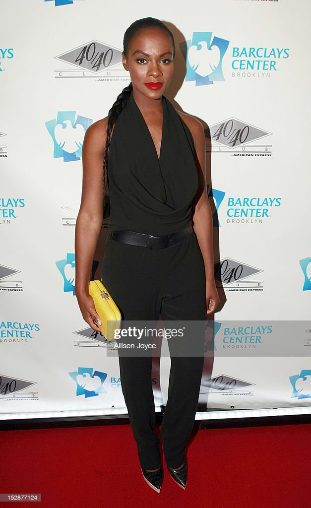 Tika Sumpter attends the grand opening of the 40/40 Club at Barclays Center on September 27, 2012 in the Brooklyn borough of New York City.