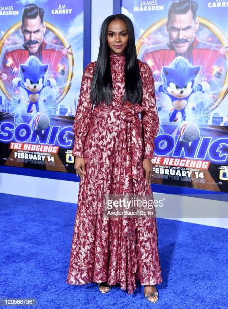 Tika Sumpter attends the LA Special Screening of Paramount's Sonic the Hedgehog at Regency Village Theatre on February 12 2020 in Westwood California
