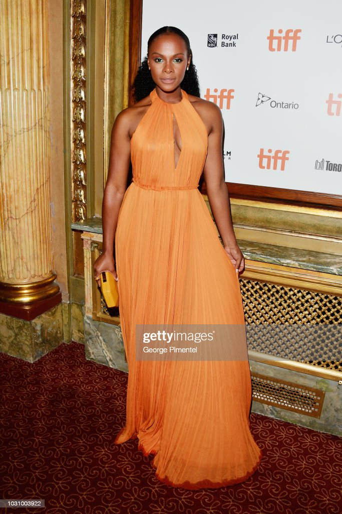 Tika Sumpter attends the 'The Old Man & The Gun' premiere during 2018 Toronto International Film Festival at The Elgin on September 10, 2018 in Toronto, Canada.