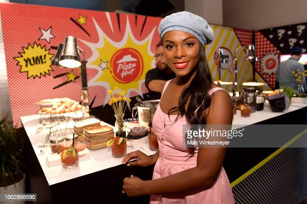 Tika Sumpter from TBS's 'Final Space' attends the Pizza Hut Lounge at 2018 ComicCon International San Diego at Andaz San Diego on July 20 2018 in San...