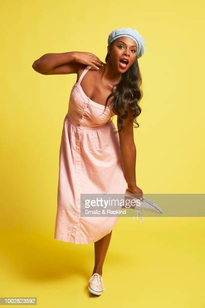 Tika Sumpter from TBS's 'Final Space' poses for a portrait at the Getty Images Portrait Studio powered by Pizza Hut at San Diego 2018 Comic Con at...
