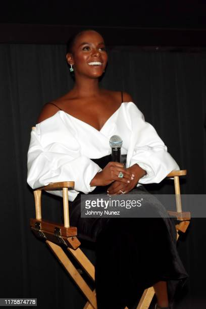 """Tika Sumpter speaks onstage at the """"Mixed-ish"""" New York Screening at Regal Battery Park Cinemas on September 19, 2019 in New York City."""