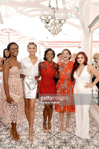Tika Sumpter Zendaya Aja Naomi King Cindi Leive and Ariel Winter attend Glamour's Game Changers Lunch hosted by EditorinChief Cindi Leive Zendaya at...