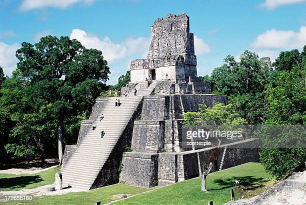 tikal temple guatemala - old ruin stock photos and pictures