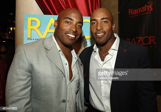 Tiki and Ronde Barber during Razor Magazine Hosts Party for the American Century Championship Players at Altitude Nightclub at Harrahs Hotel and...