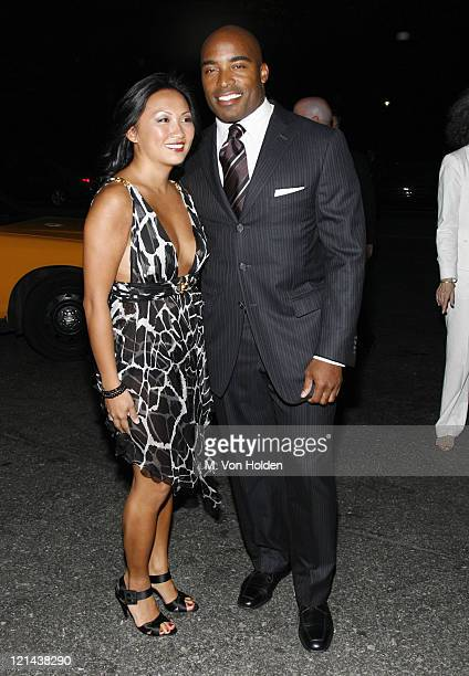Tiki Barber and Ginny Barber during The Fresh Air Fund Annual Spring Gala at Tavern on the Green in New York NY United States