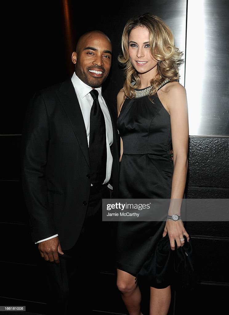 Tiki Barber and Traci Lynn Johnson attend the New Yorker's For Children's 10th Anniversary A Fool's Fete Spring Dance at Mandarin Oriental Hotel on April 9, 2013 in New York City.
