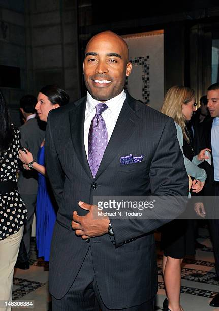 Tiki Barber attends the 13th annual Big Brothers Big Sisters of New York City Casino Jazz Night at Cipriani 42nd Street on June 13 2012 in New York...