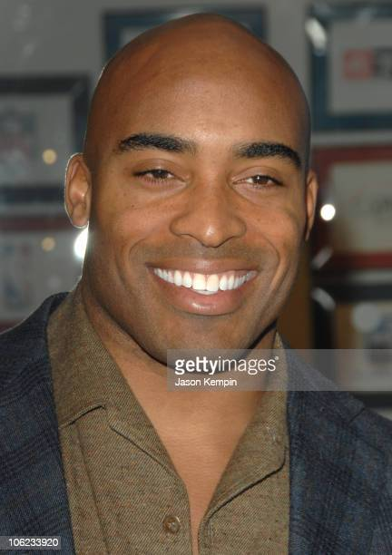 Tiki Barber during Jamie Foxx Launches The Foxxhole Channel January 23 2007 at Sirius Satellite Radio Station in New York City New York United States