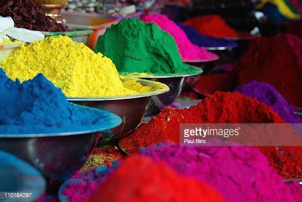 tikka powder, mysore market - mysore - fotografias e filmes do acervo