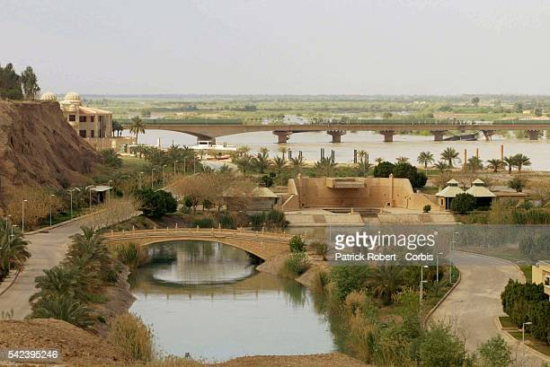 Tikrit's presidential complex is composed of three reception palaces and several residential and leisure palaces on a marina next to the Tigris river...