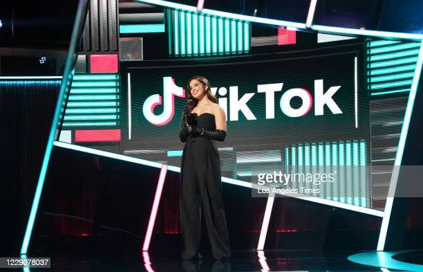 TikTok sensation Addison Rae during the 2020 Billboard Music Awards held at the Dolby Theatre in Hollywood, CA.