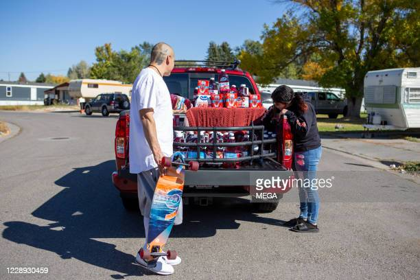 TikTok star Nathan Apodaca, aka 420doggface208, poses after being gifted a truck by Ocean Spray on October 6, 2020 in Idaho Falls, Idaho.