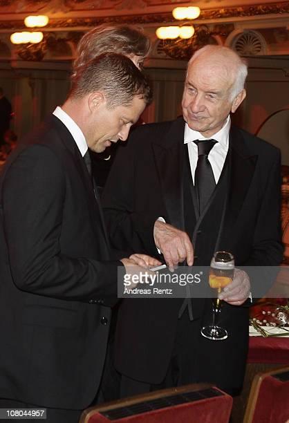 Til Schweiger and Armin MuellerStahl attend the Semper Opera ball on January 14 2011 in Dresden Germany