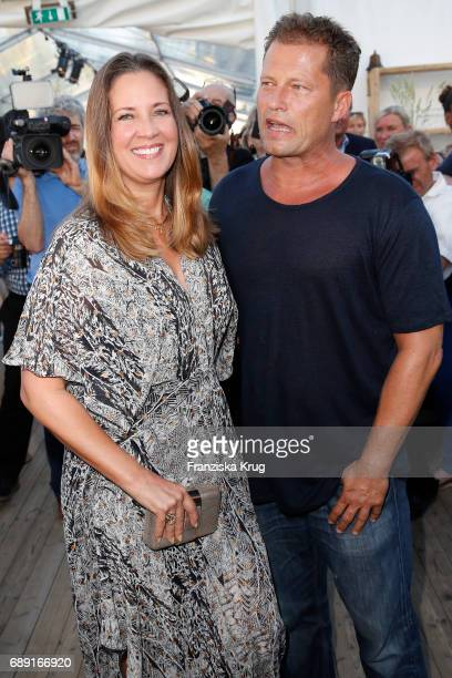 Til Schweiger And Dana During S Opening Of His Barefoot Hotel On