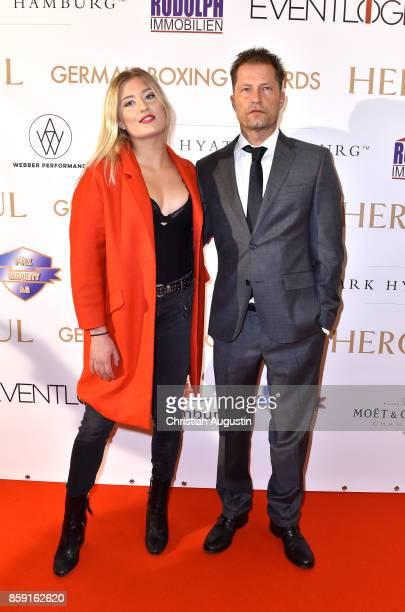 Til Schweiger and daughter Luna Schweiger attend the award ceremony of the German Boxing Award Herqul at the Besenbinderhof on October 8 2017 in...