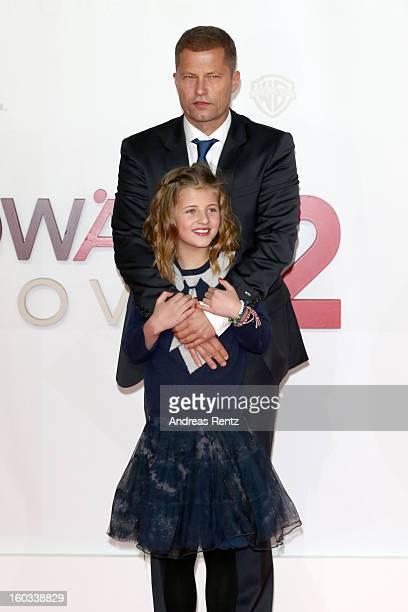 Til Schweiger and Emma Schweiger attend 'Kokowaeaeh 2' Germany Premiere at Cinestar Potsdamer Platz on January 29 2013 in Berlin Germany