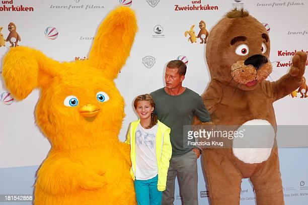 Til Schweiger and Emma Schweiger attend the 'Keinohrhase und Zweiohrkueken' Premiere at CineStar on September 22 2013 in Berlin Germany