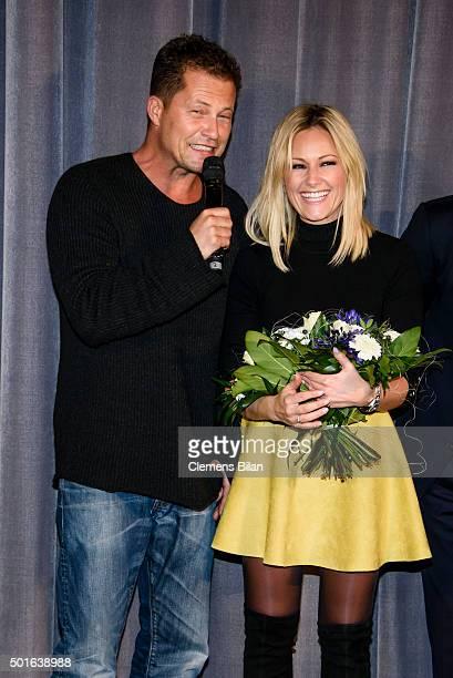 Til Schweiger and Helene Fischer attend the 'Tatort Der Grosse Schmerz' premiere in Berlin at Kino Babylon on December 16 2015 in Berlin Germany