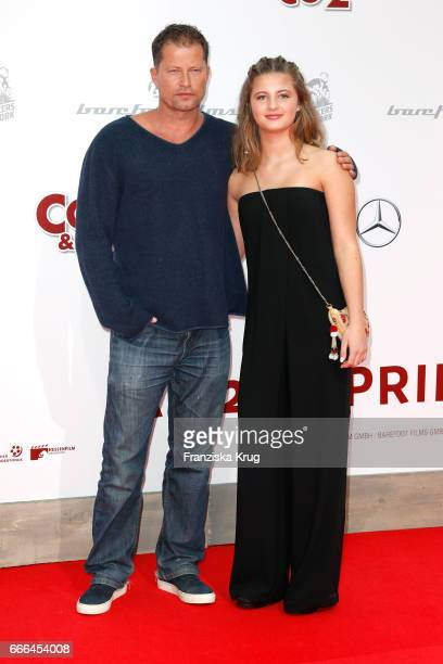 Til Schweiger and his daughter Emma Schweiger attend the 'Conni Co 2 Das Geheimnis des TRex' premiere on April 9 2017 in Berlin Germany