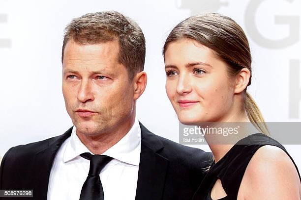 Til Schweiger and his daughter Lilli Schweiger attend the Goldene Kamera 2016 on February 6 2016 in Hamburg Germany