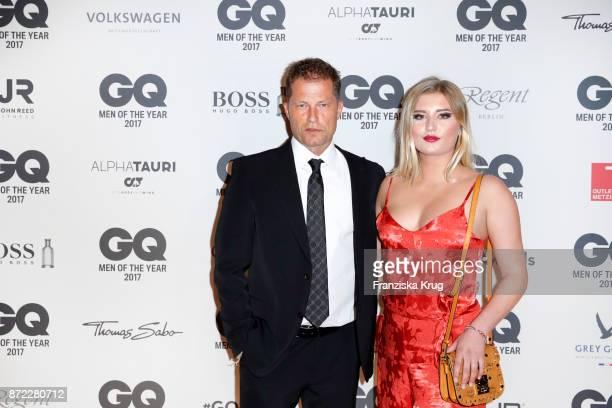 Til Schweiger and his daughter Luna Schweiger arrive for the GQ Men of the year Award 2017 at Komische Oper on November 9 2017 in Berlin Germany