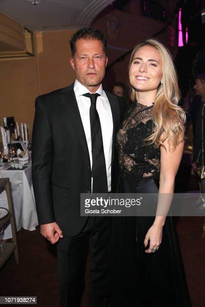 Til Schweiger and his girlfriend Francesca Dutton during the Audi Generation Award 2018 at Hotel Bayerischer Hof on December 11 2018 in Munich Germany