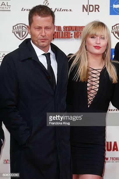 Til Schweiger and Luna Schweiger attend the 'Tschiller Off Duty' German Premiere on February 3 in Berlin Germany