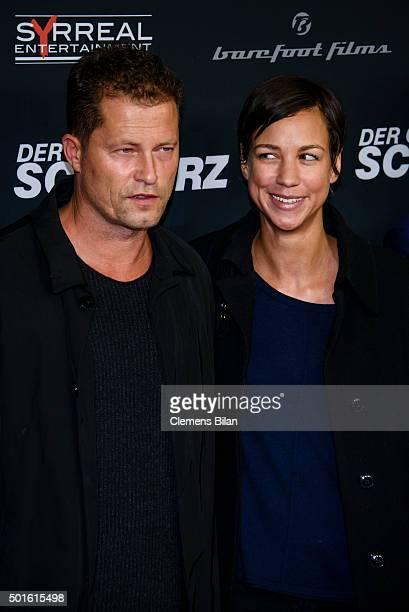 Til Schweiger and Marlene Shirley attend the 'Tatort Der Grosse Schmerz' premiere in Berlin at Kino Babylon on December 16 2015 in Berlin Germany