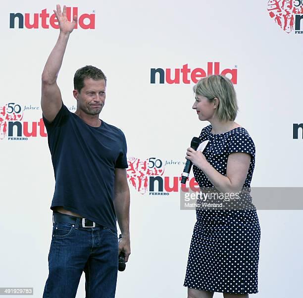 Til Schweiger and Sabine Heinrich attend the 50 Year Anniversary Nutella Celebration at Westfalenpark on May 18 2014 in Dortmund Germany